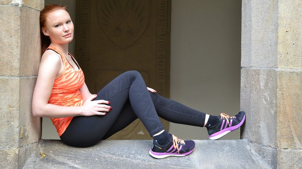 Image of girl with Adidas trainers